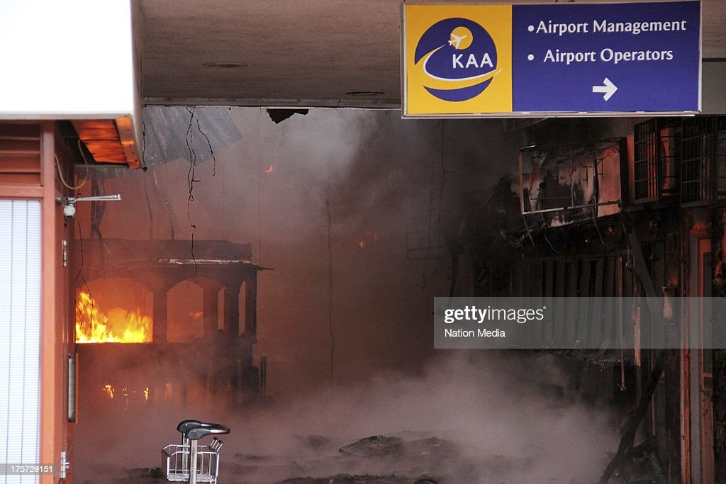 Fire at Kenyan airport : News Photo