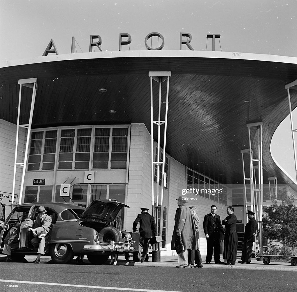 The arrivals terminal of Idlewild Airport, (Kennedy Airport).