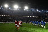 london england arsenal chelsea teams walk