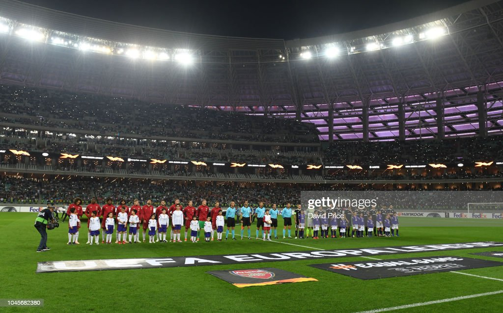 Qarabag FK v Arsenal - UEFA Europa League - Group E : News Photo