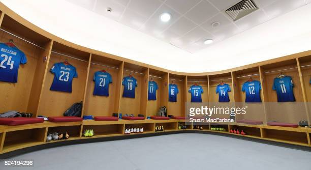 The Arsenal changing room before Emirates Cup match between Arsenal and SL Benfica at Emirates Stadium on July 29 2017 in London England
