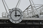 london england arsenal clock during premier