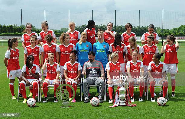 The Arsenal Ladies team group during their photocall at London Colney on June 16 2016 in St Albans England