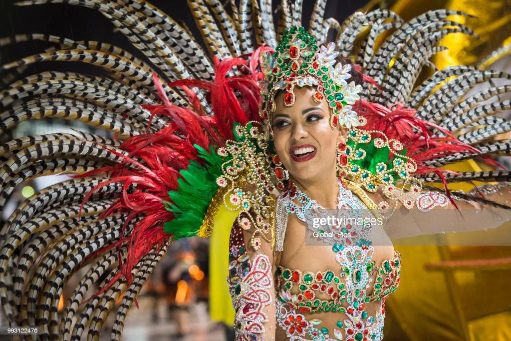 The art and beauty of the Brazilian samba : Stock Photo