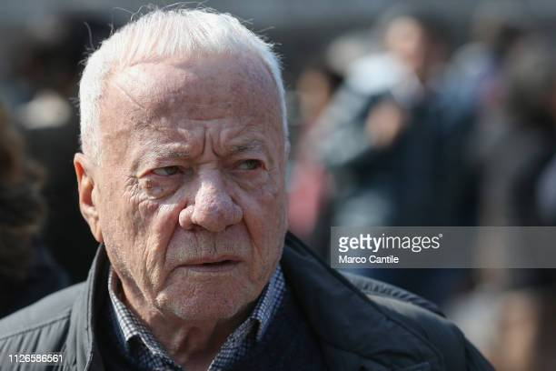 The art critic Achille Bonito Oliva before the performance In The Volcano by the artist Cai Guo Quiang in the amphitheater of the archaeological...