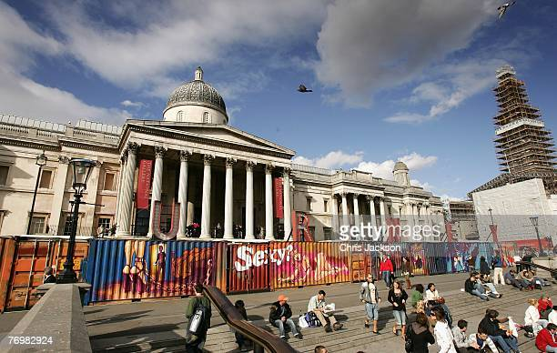 The art installation entitled 'The Journey Against Sex Trafficking' is set out on Trafalgar Square on September 24 2007 in London England The artwork...