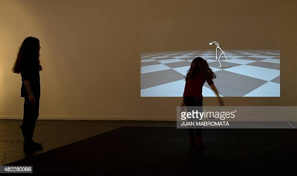 The art installation Kinetic dialogues by Alexander Berman of Sweden and Valencia James of Barbados stages a realtime kinetic interaction between a...