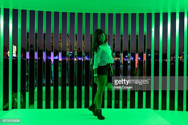 The art installation Portals by Philip K Smith III during day 1 of the 2016 Coachella Valley Music Arts Festival Weekend 1 at the Empire Polo Club on...