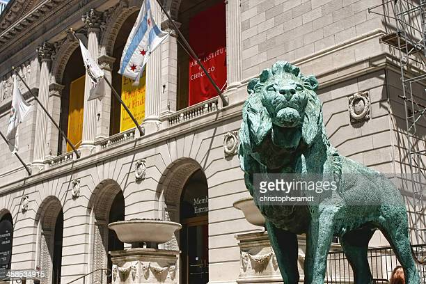 the art institute of chicago lions - art institute of chicago stock pictures, royalty-free photos & images
