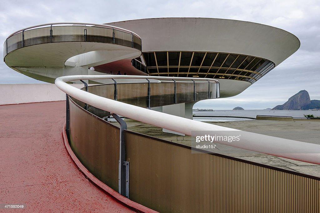 the Art Museum in Niteroi, Brazil : Stock Photo