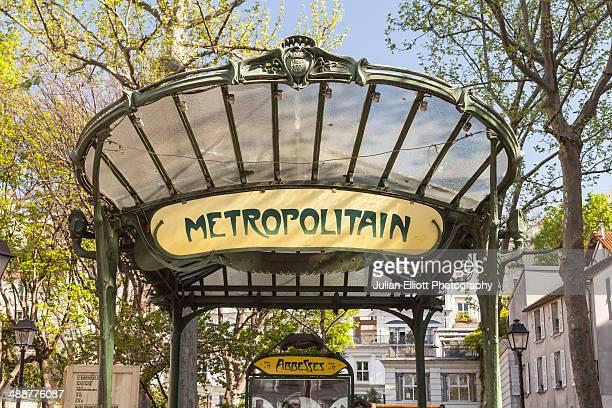 The Art Nouveau metro entrance at Abbesses.