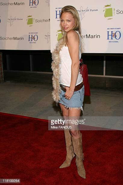 The Art of Elysium 'Bringing The Arts To Children in Need' in Hawthorne United States on November 13 2004 Marne Patterson at the event in the...