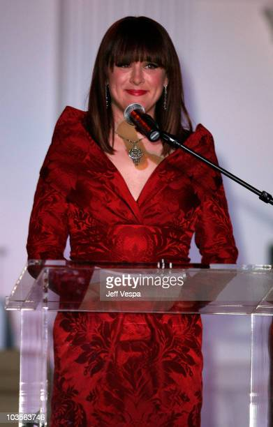 The Art of Elysium founder Jennifer Howell speaks during The Art of Elysium 2nd Annual Heaven Gala held at Vibiana on January 10, 2009 in Los...