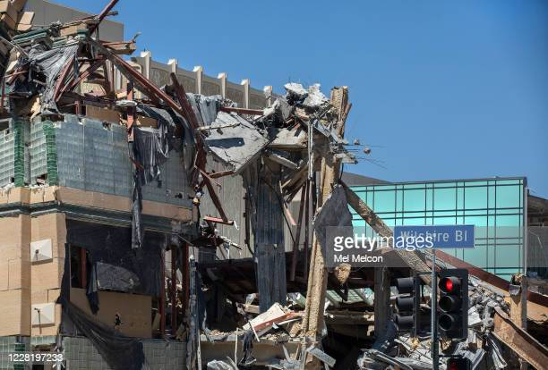 The Art of the Americas Building at the Los Angeles County Museum of Art in Los Angeles is being demolished, as seen from Wilshire Blvd. In Los...