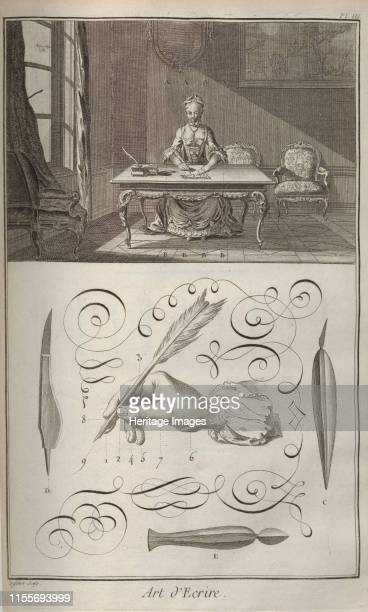 The Art of Writing From Encyclopédie by Denis Diderot and Jean Le Rond d'Alembert 17511765 Private Collection Artist Anonymous