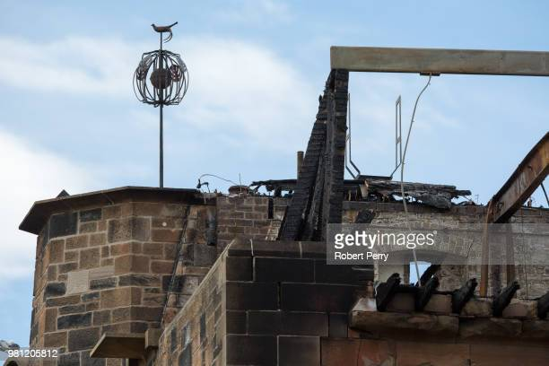 The art school finial stands as a symbol of hope having survived the two recent blazes that have damaged the Mackintosh Building at Glasgow School of...