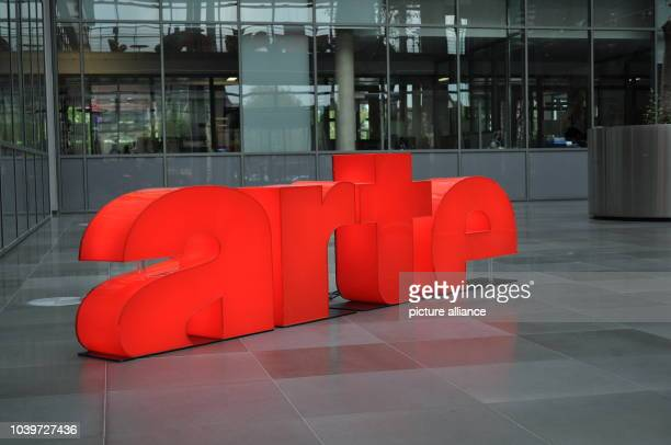 The arte logo at head office of television station Strasbourg, France, 26 April 2017. The german-french culture channel celebrates his 25th...