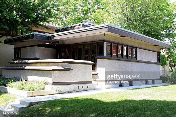 The Arthur L. Richards House, built in 1916 and designed by famed architect Frank Lloyd Wright, in Milwaukee, Wisconsin on JUNE 16, 2012.