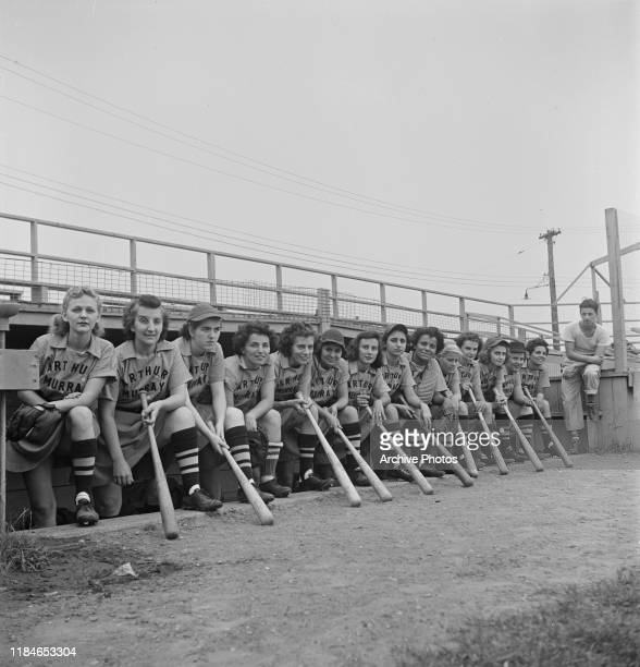 The Arthur Murray Girls a professional women's baseball team in action USA 1953 They were formed on Long Island by sportswriter Mike Strauss six...
