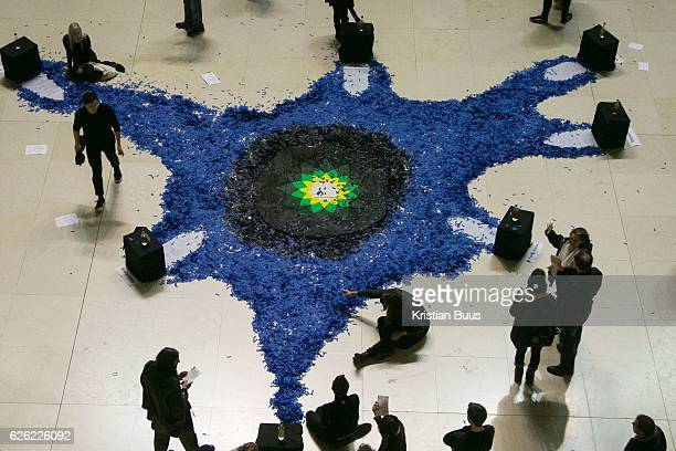 The artist activist group Bp-or-not-Bp stage a ceremonial performance at the British Museum 26th of November 2016 in Lonon, the United Kingdom. The...