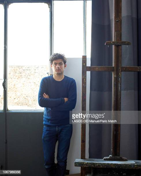 The artist and film director Clement Cogitore is photographed for Paris Match at his studio on November 5 2018 in Paris France