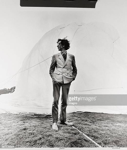 The artist Christo in front of the orangery DocumentaIV Auepark Kassel Germany Photograph 1968