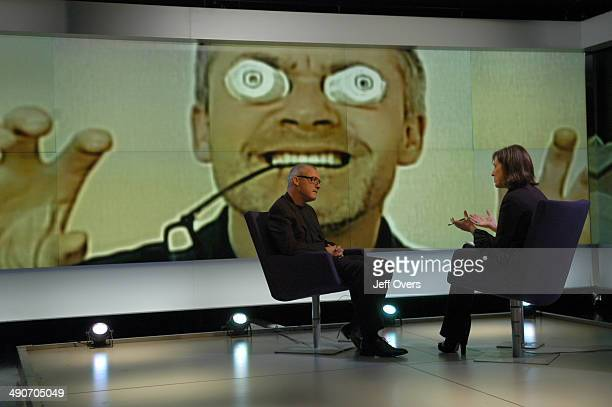 The artist Damien Hirst appearing on the BBC programme Newsnight Review with Kirsty Wark recorded on and transmitted on He is talking about his work...