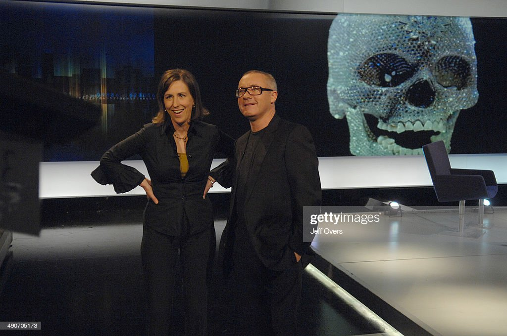 Damien Hirst appearing on Newsnight Review : News Photo
