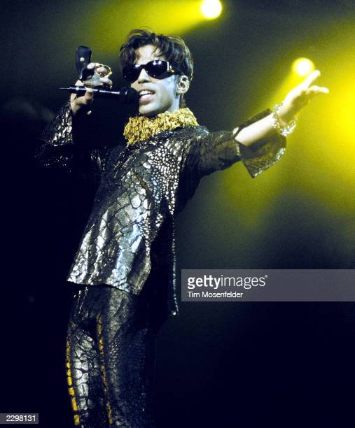 The Artist formerly known as Prince performing at Shoreline Amphitheater in Mountain View Calif on October 10th 1997 Image By Tim...