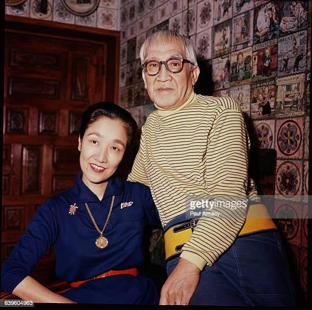 The artist Foujita and his wife in 1958