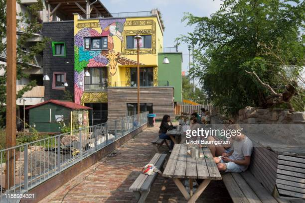 The artist village Holzmarkt an urban village with a daycare center function rooms restaurant studios and workshops on the river Spree in the heart...
