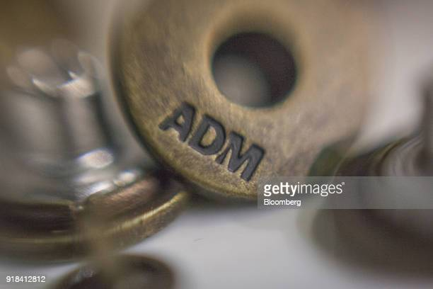 The Artistic Denim Mills Ltd logo is seen on a button at the company's factory in Karachi Pakistan on Tuesday Feb 6 2018 Pakistans manufacturers have...