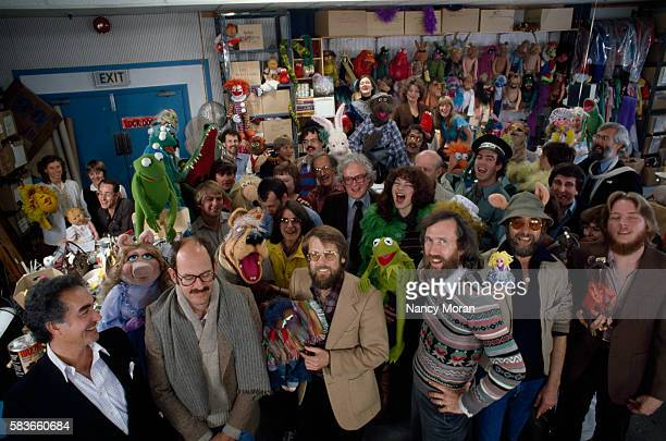 The artists and crew behing the television program The Muppet Show created and produced by Jim Henson