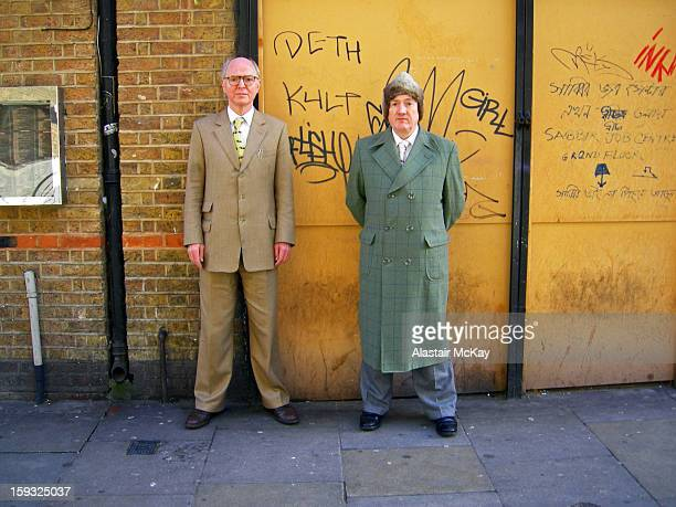 CONTENT] The artists Gilbert and George in Brick Lane East London