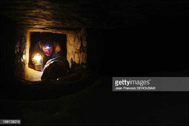 The Artists Of The Paris Catacombs On November 1 2004 In Paris France Some Galleries Are Obstructed To Reach Another Corridor The Cataphiles Have Dug...