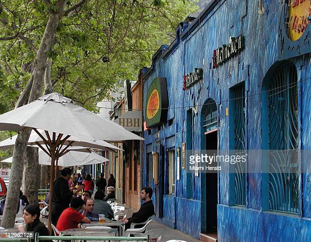 The artsy Bellavista neighborhood in Santiago Chile