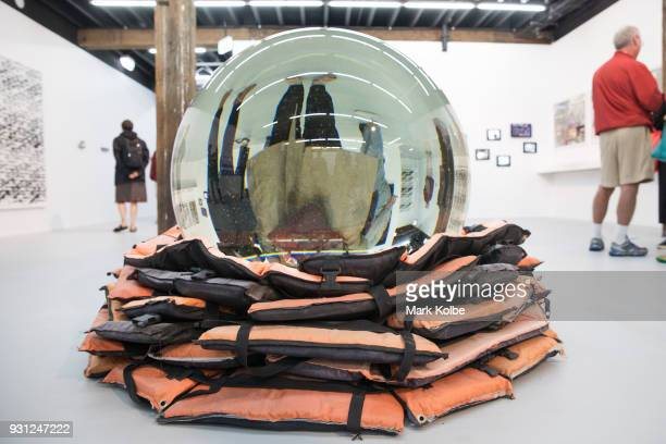 The artwork Crystal Ball by artist Ai Weiwei which part of the 31st Biennale of Sydney is seen at Art Space on March 13 2018 in Sydney Australia