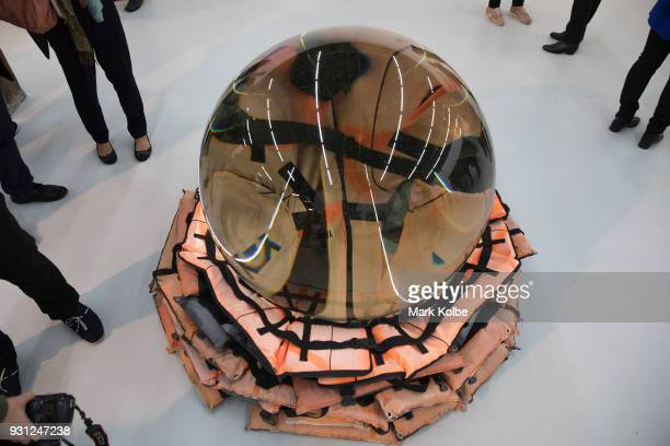 The artwork 'Crystal Ball' by artist Ai Weiwei which part of the 31st Biennale of Sydney is seen at Art Space on March 13 2018 in Sydney Australia