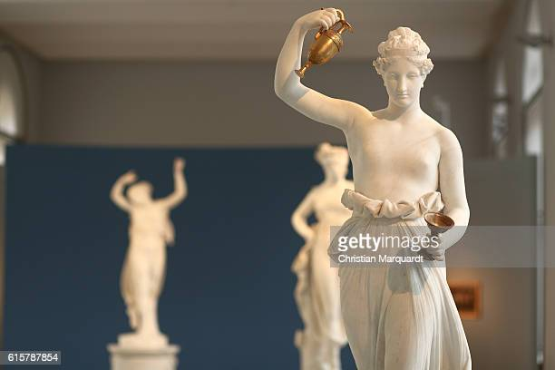 The artwork 'Hebe' pictured during the Antonio Canova 'Canova und der Tanz' Canova and the dance' press conference and exhibition preview at Bode...