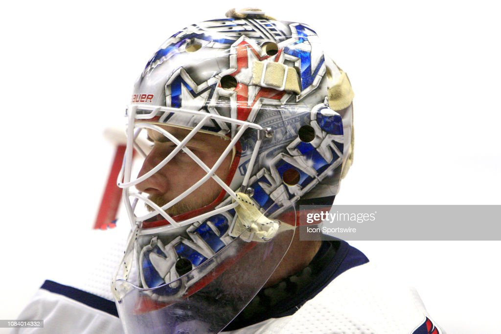 The Artwork On The Mask Of Washington Capitals Goalie Braden Holtby News Photo Getty Images