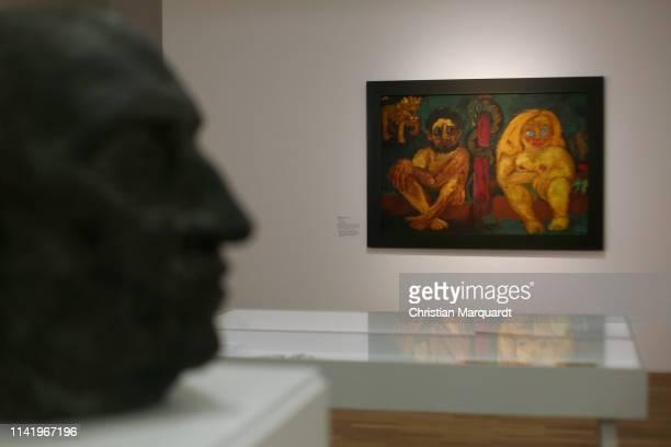 """The artwork 'Paradise Lost` pictured during the preview of the exhibition """"Emil Nolde - Eine deutsche Legende. Der Kuenstler im Nationalsozialismus""""..."""
