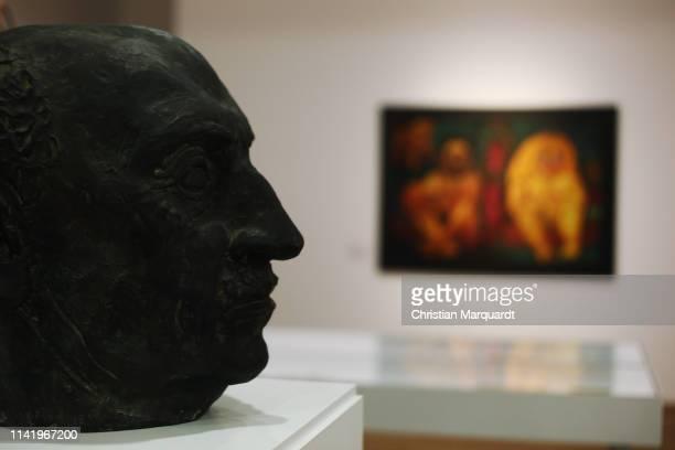 """The artwork 'Portrait of Emil Nolde by Gustav Wolff' pictured during the preview of the exhibition """"Emil Nolde - Eine deutsche Legende. Der Kuenstler..."""