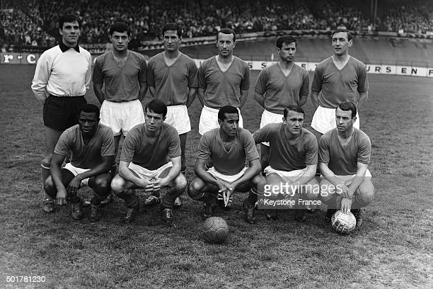 The AS Monaco team before the final of the Football Coupe de France at the Parc des Princes stadium on May 23 1963 in Paris France