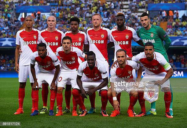 The AS Monaco team pose prior to the UEFA Champions League playoff first leg match between Villarreal CF and AS Monaco at El Madrigal on August 17...