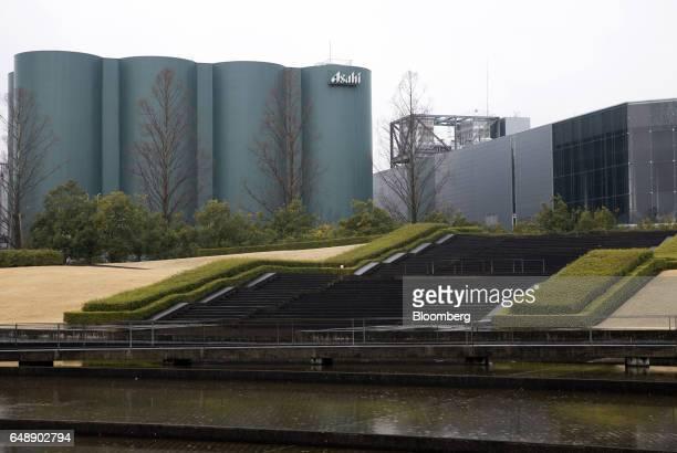 The Asahi Kanagawa Brewery operated by Asahi Breweries Ltd a unit of Asahi Group Holdings Ltd stands in Minamiashigara Kanagawa Japan on Monday March...