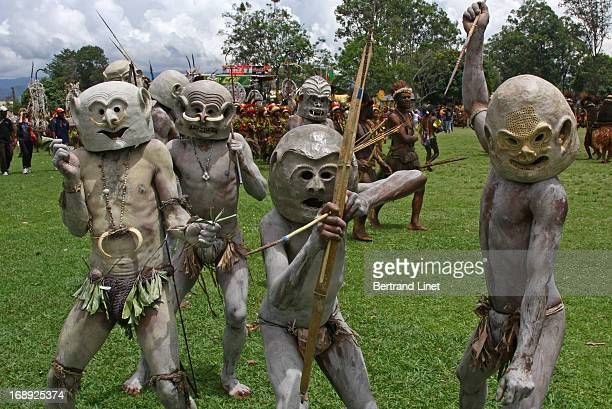 CONTENT] The Asaro Mudmen come from just outside the village of Goroka in the Eastern Highlands Province where every yearoccurs the Goroka Show one...