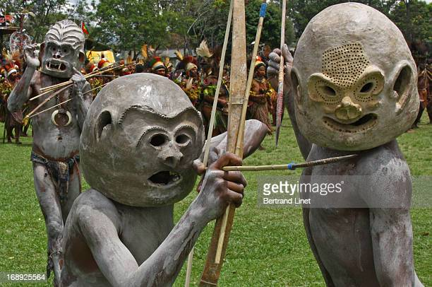 CONTENT] The Asaro Mudmen come from just outside the village of Goroka in the Eastern Highlands Province where every year occurs a wonderful tribal...