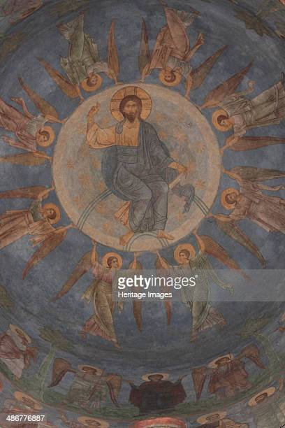 The Ascension of Christ 12th century Artist Ancient Russian frescos