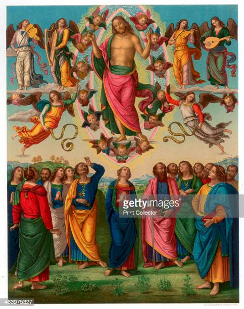 'The Ascension of Christ' 14961498 Found in the collection of the Musee Municipal des BeauxArts Lyon A print from Les Chef D'oeuvre de la Peinture...