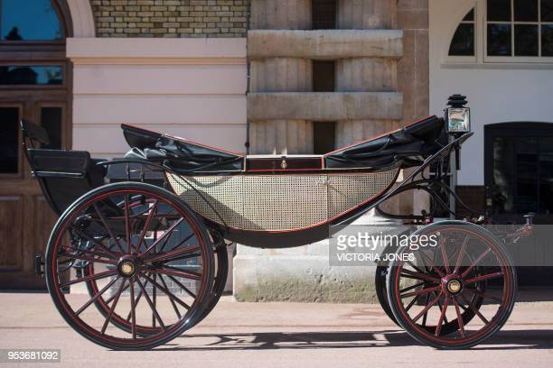 The Ascot Landau carriage which will carry Britain's Prince Harry and wife Meghan Markle along the processional route in Windsor following their...